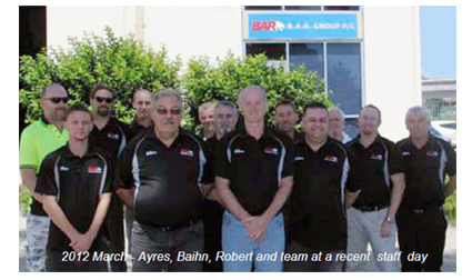B.A.R. Group - Number 3 in Australia and growing