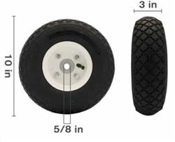 "10""  PNUEMATIC CART WHEEL"